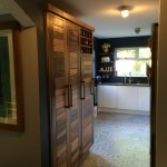 Handmade walnut doors