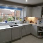 New worktops & sinks added to kitchen refurbishment